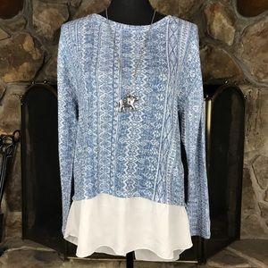 Kiara   Layer Look Tunic   Blue   M
